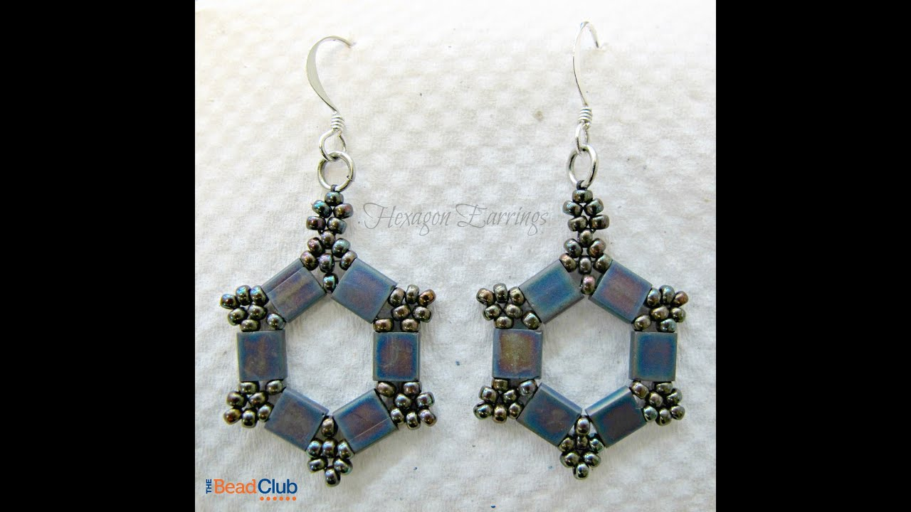 Hexagon Earrings Take 2 - YouTube