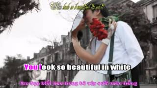 Beautiful in white (karaoke + Lytics)