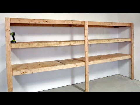 The BEST Garage Shelving – Easy One Person Project