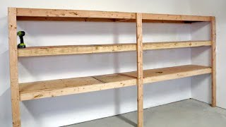 The BEST Garage Shelving  Easy One Person Project #anawhite