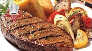 Мясо на подушке с лука