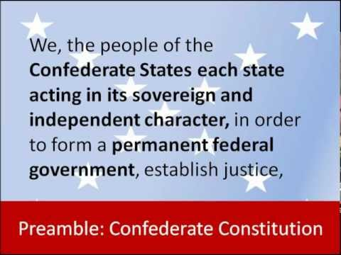 Preamble -- Constitution of the Confederate States of America -- Hear and Read the Full Text