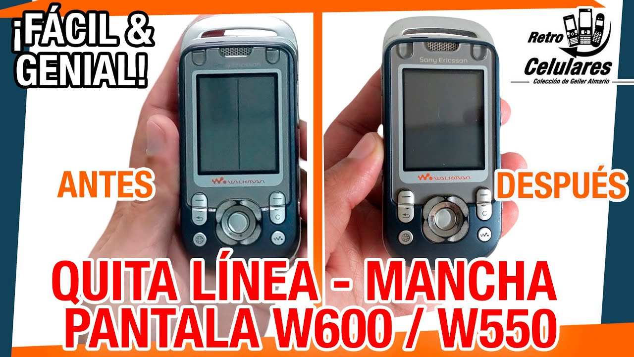 Repara FÁCIL PANTALLA del W600 / W550 Linea, Mancha o pixel muerto / RETRO CELULARES