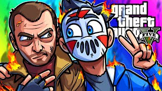GTA 5 Mods Funny Moments - Surviving a Chaos Mod in Liberty City?!