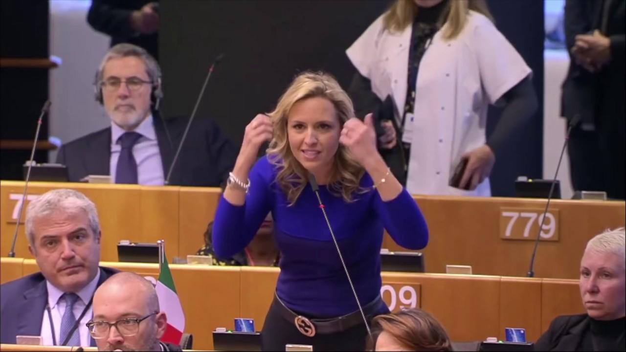 20191211 Silvia Sardone - (New Green Deal) EU Green deal DESTROYED by  Italian MEP - YouTube