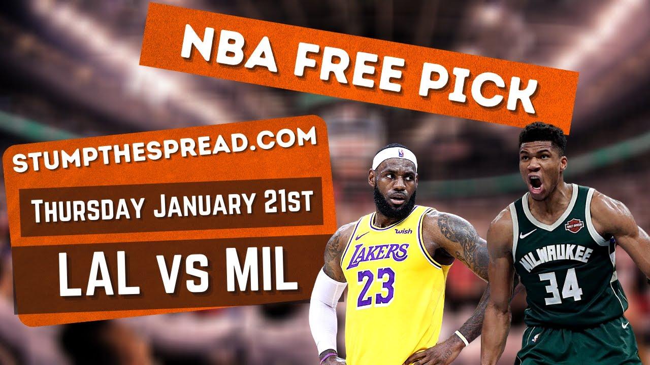 Free NBA Picks Los Angeles Lakers vs Milwaukee Bucks 1/21/21 NBA Picks Tonight - Lakers vs Bucks