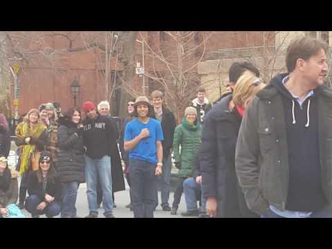 Street performance at Washington Square Park, New York City