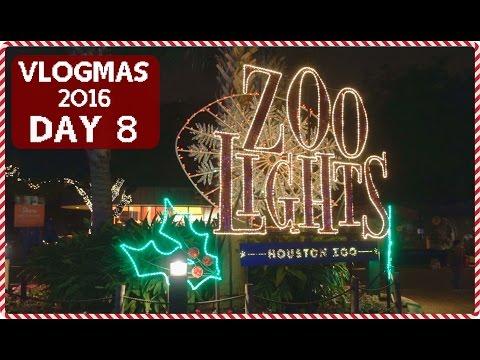 HOUSTON ZOO LIGHTS 2016! | VLOGMAS DAY 8 (12-8-2016)!