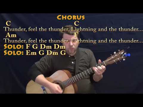 Thunder (Imagine Dragons) Guitar Cover Lesson with Chords/Lyrics