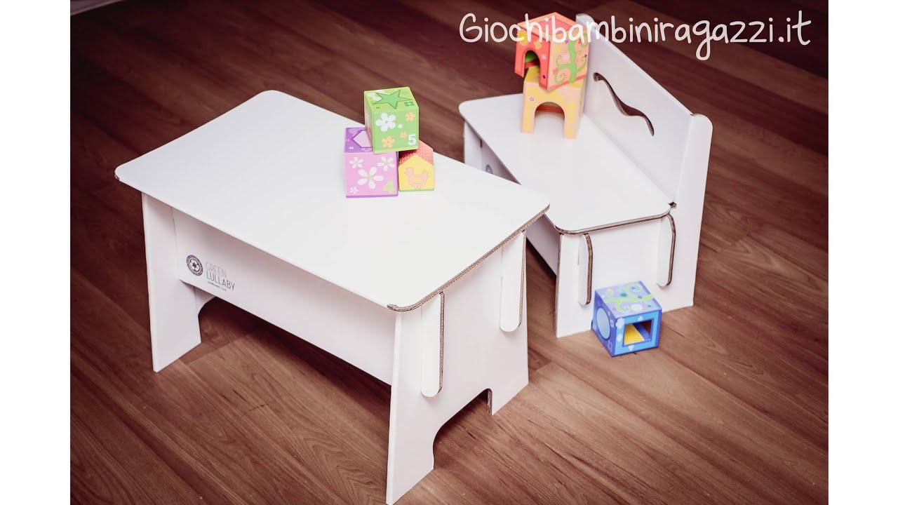 Scrivania Per Bambini 2 Anni : Tavolo per bambini con panca per disegnare tiene kg youtube