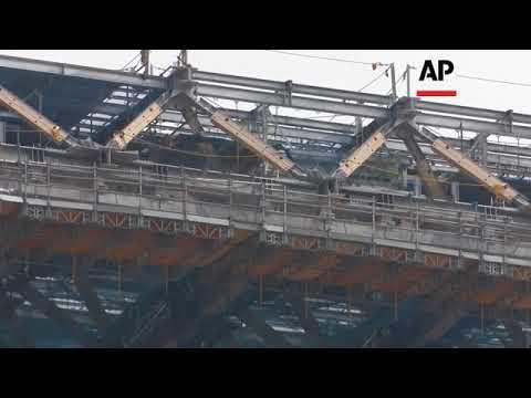 Main stadium for 2020 Tokyo Olympics  40 percent complete