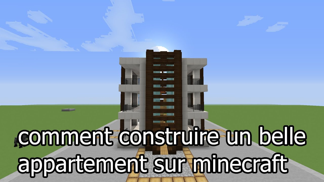 construction minecraft comment faire un belle appartement. Black Bedroom Furniture Sets. Home Design Ideas