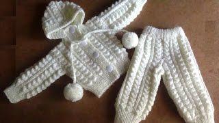 Белый костюмчик для новорожденного. knitted suit for newborn baby