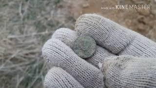 Коп в Казахстане.  Серебро Николая 2, в заброшенной деревне.