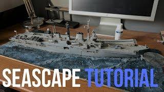 Ölçek Model Gemi için deniz Manzarası Bir Diorama Yapmak nasıl