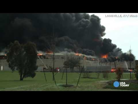 Everyone accounted for in huge GE building fire