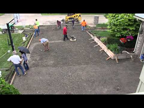 How to pour a concrete driveway funnycat tv for Pouring your own concrete driveway