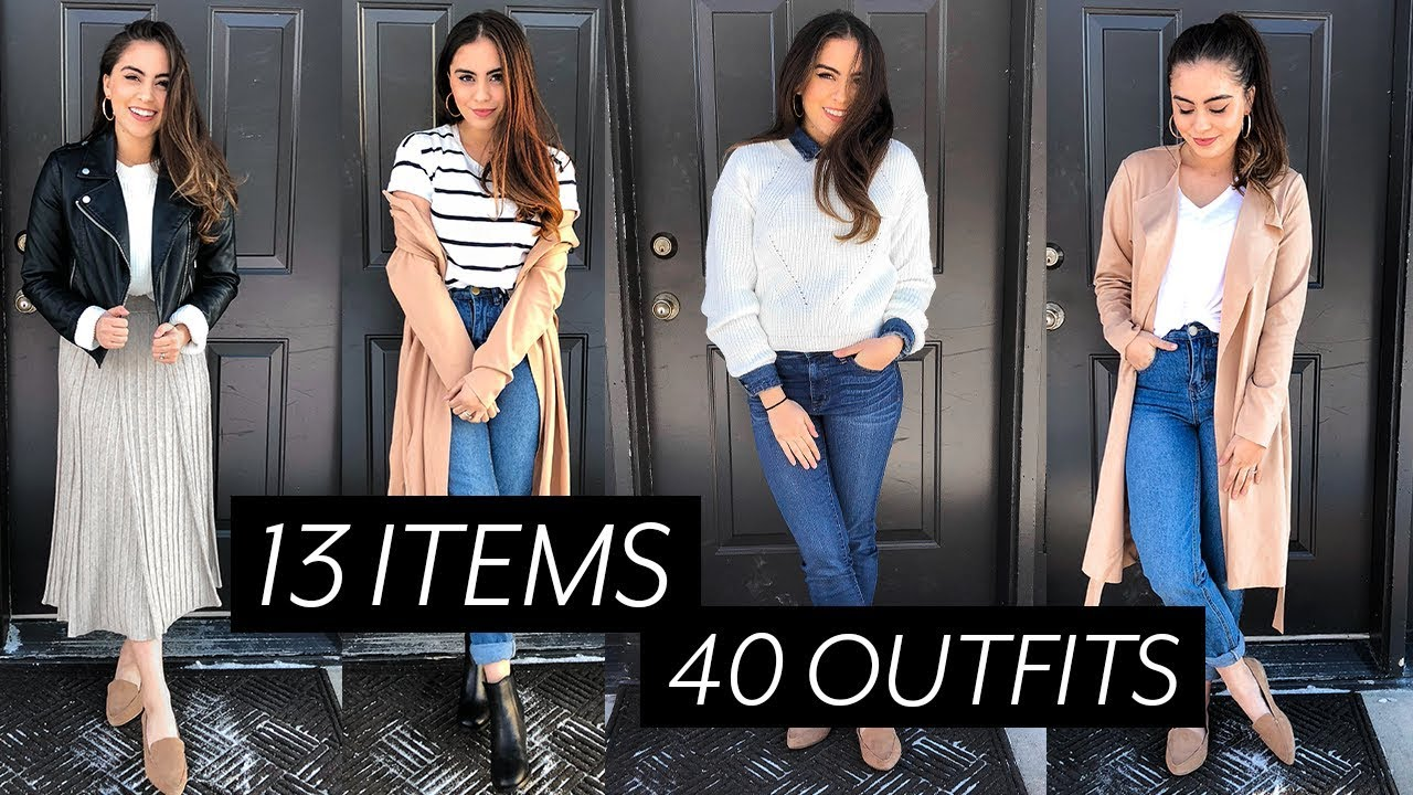 [VIDEO] - 40 OUTFITS FROM 13 ITEMS // TRAVEL CAPSULE WARDROBE ♡ 1