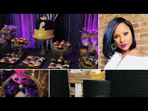 Birthday Party Ideas for Adults| 30th, 40th, 60th & 50th Birthday Celebration|Bling Backdrop