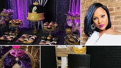 Birthday Party Ideas for Adults  30th, 40th, 60th & 50th Birthday Celebration Bling Backdrop