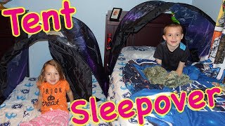 Play Tent Sleepover Inside The Kids' Dream Tents With Alex & Ava