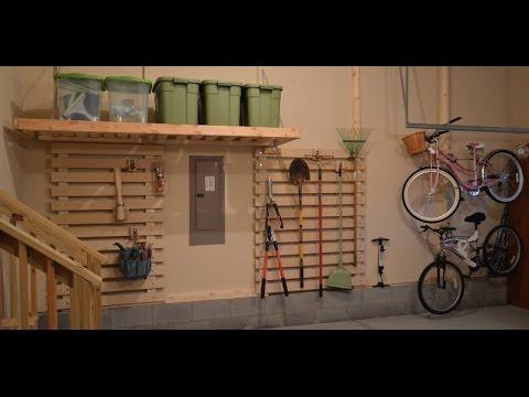 Diy Garage Organization Wood Rail