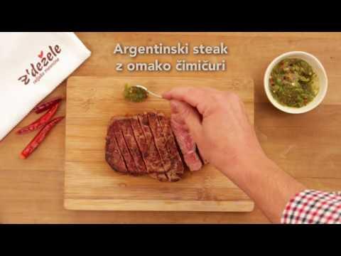 Argentinski steak z´dežele z omako čimičuri