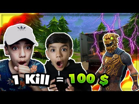 Download Youtube: 1 KILL = $100 CHALLENGE W/ 10 YR OLD BROTHER   Fortnite Battle Royale