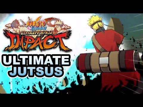 Naruto Ult. Ninja Storm Impact [PSP] - All Ultimate Jutsu