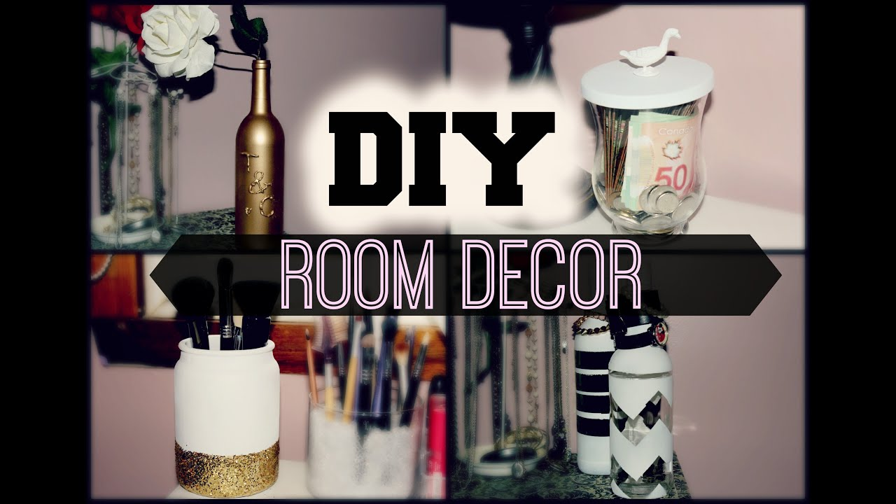 Diy room decor reuse candle jars bottles youtube for How to do home decoration
