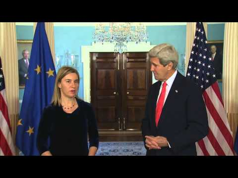 Secretary Kerry Delivers Remarks With EU High Representative Mogherini