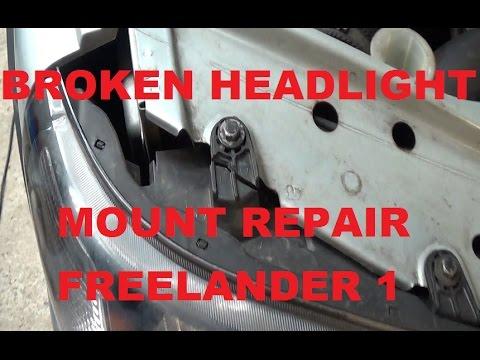 Broken Plastic Headlamp Mounting Tab Repair For Free - Repair headlight  mount Land Rover Freelander