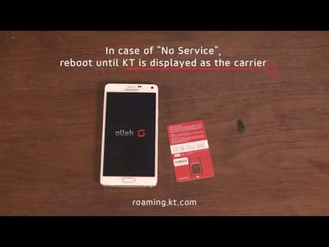 (ENG) How to use Korea sim card (for Android user) . Korea Prepaid sim / simcard / at airport / KT