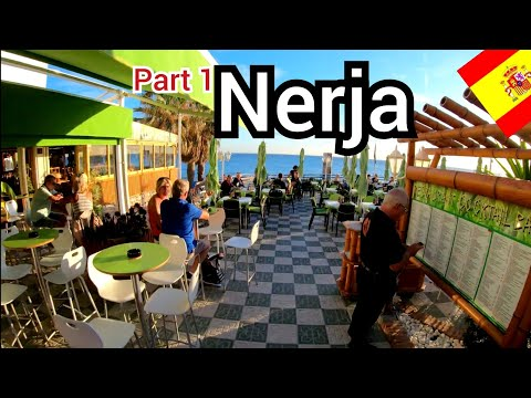 ⁴ᴷ NERJA Sunset Walk 🇪🇸 Costa Del Sol, Andalusia, Spain 4K (part 1)