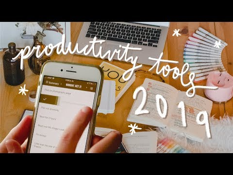 My must-have PRODUCTIVITY TOOLS in 2019 | $100+ GIVEAWAY! thumbnail