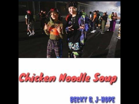 °J-Hope - Chicken Noodle Soup (feat. Becky G)° {(транскрипция) (кирилизация)}