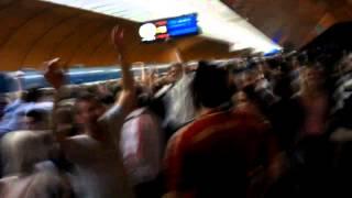 Chelsea fans Bounce @ Marienplatz Munich Underground Champions League Final 2012