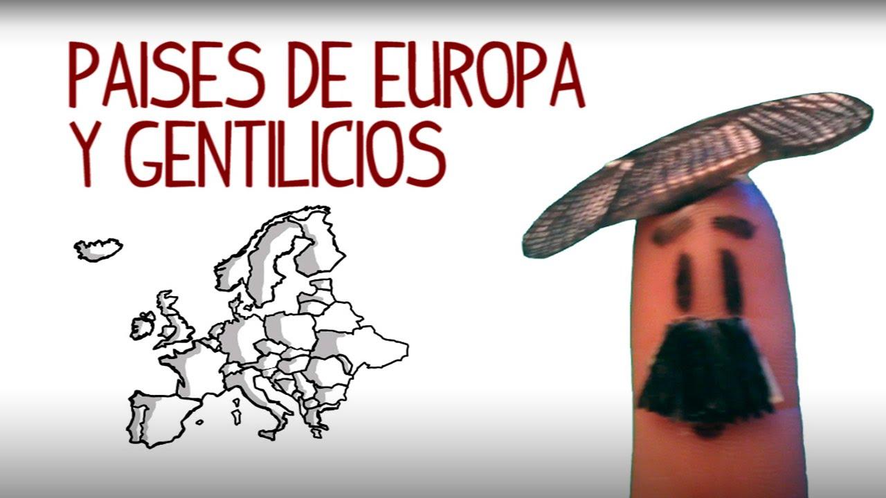 Mundo Intercultural Países Y Nacionalidades En Español: Países E Nacionalidades Da Europa Em Espanhol