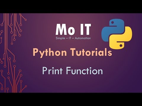 Python Tutorials - Print Function in Detail thumbnail