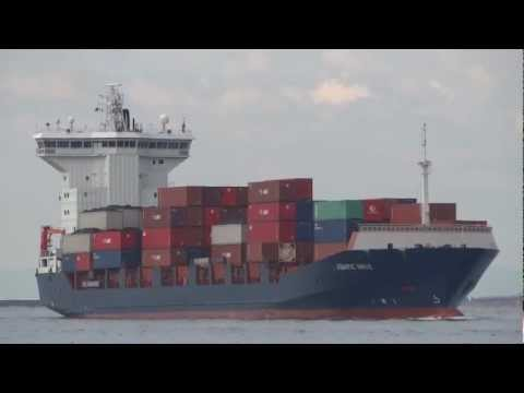 [船]コンテナ船 ASIATIC WAVE Container ship Arriving OSAKA Port 大阪港入港