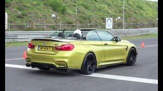 CRAZY CUSTOM BMW M4 Cabrio W/ Akrapovic Exhaust   REVS And Accelerations!