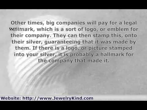 .925 and other Quality Marks of Sterling Silver Jewelry
