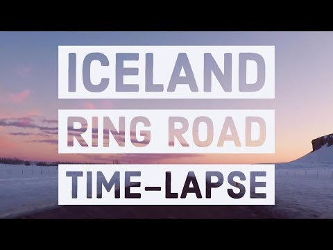 Time Lapse Road Trip around Iceland | Ring Road | 4K | Chillout remix