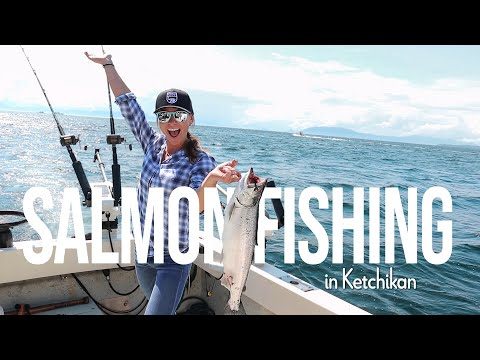 Salmon Fishing In Ketchikan! & Wild Otters!