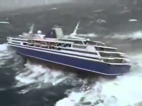 Cruise Ship In Rough Sea Youtube