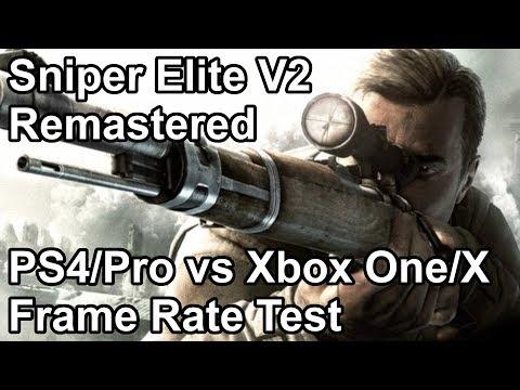 Sniper Elite V2 Remastered Frame Rate Comparison PS4 Pro Vs Xbox One X Vs PS4 Vs Xbox One