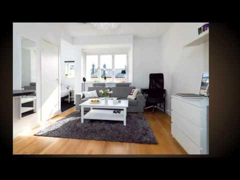 Дизайн маленькой квартиры студии на 30 кв. м в Европе с мини спальней