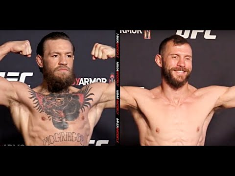 Ufc 246 Official Weigh Ins Conor Mcgregor Vs Cowboy Cerrone