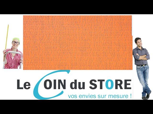 Toile PVC pour pergola et store Soltis Perform 92 Orange mandarine 8204 Serge Ferrari