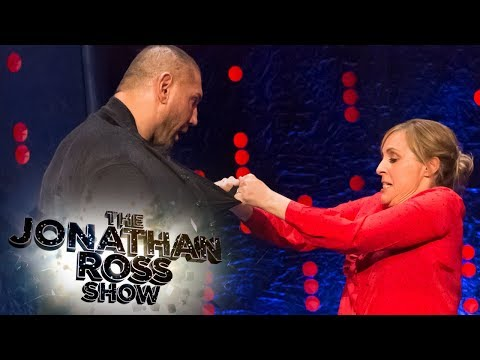 Mel Giedroyc s Dave Bautista Her Jujutsu Moves  The Jonathan Ross